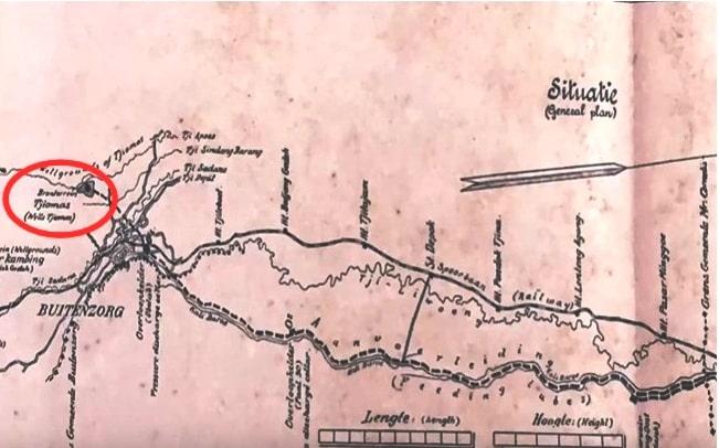 Site Plan Jalur Air Untuk Distribusi Air Bersih Ke Batavia